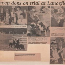 Newspaper clipping 25th February 1987